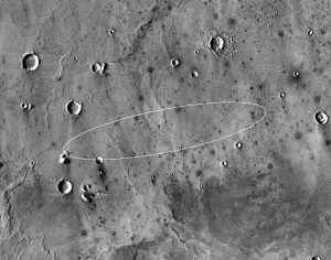 Die Landestelle von Insight auf dem Mars