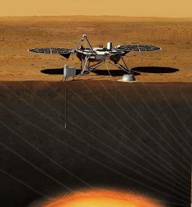 Insght Marslander auf dem Mars