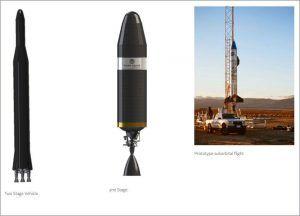 Vector R (Rapid) Rakete und Prototyp