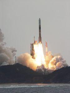 Eine Japanische H-IIA nach dem Start