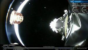 Die Satelliten werden nach dem erfolgreichen Start Seperiert